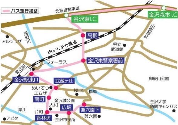 金沢市周辺図